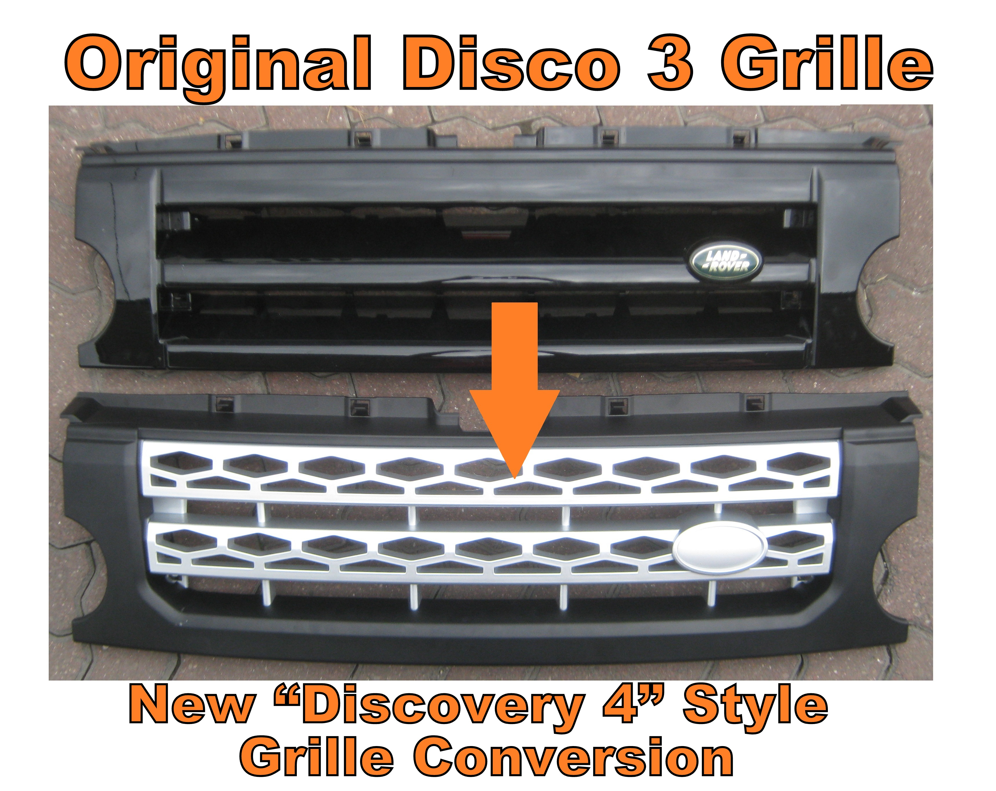 Chrome Black Disco 4 Style Front Grille Conversion For