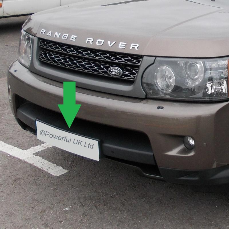 Range Rover Sport 2010 On Front Number Plate Mounting