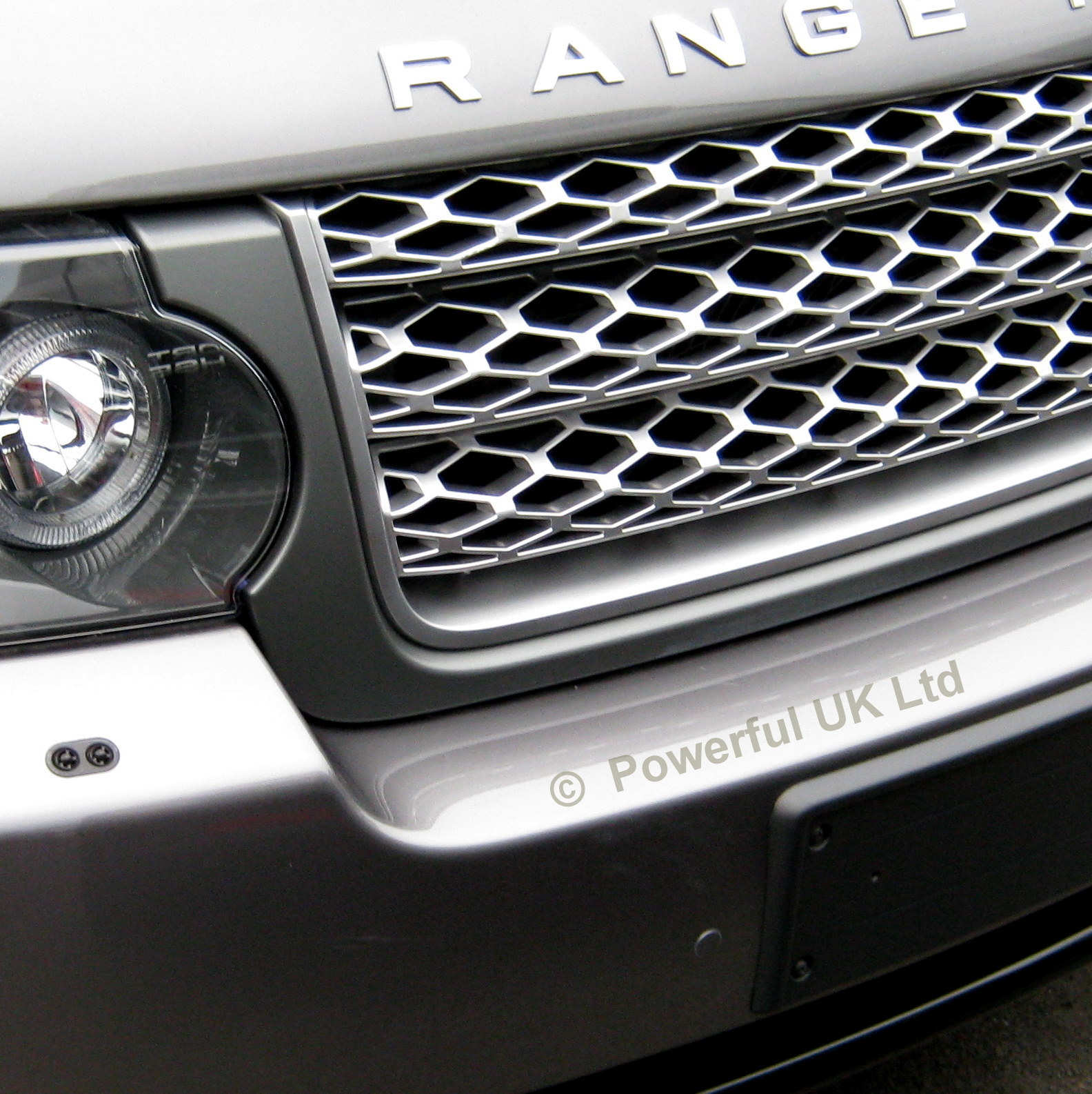 Grey+Silver Front Grille For Range Rover L322 2010-13