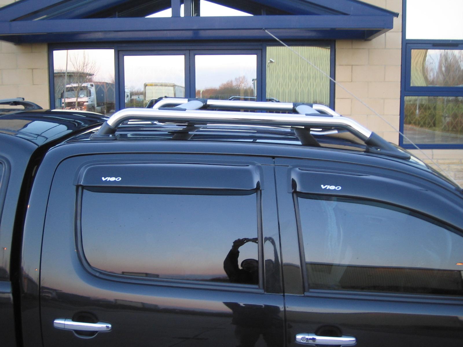 Roof Bar Kit Rack For Toyota Hilux Mk6 Vigo Pickup Chrome