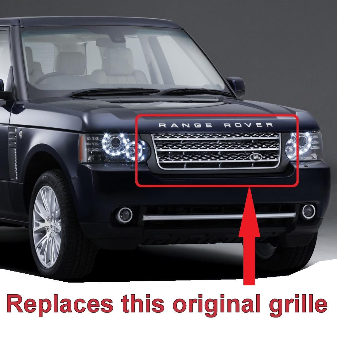 black silver l405 style front grille range rover l322 2010 12 exterior deisgn. Black Bedroom Furniture Sets. Home Design Ideas