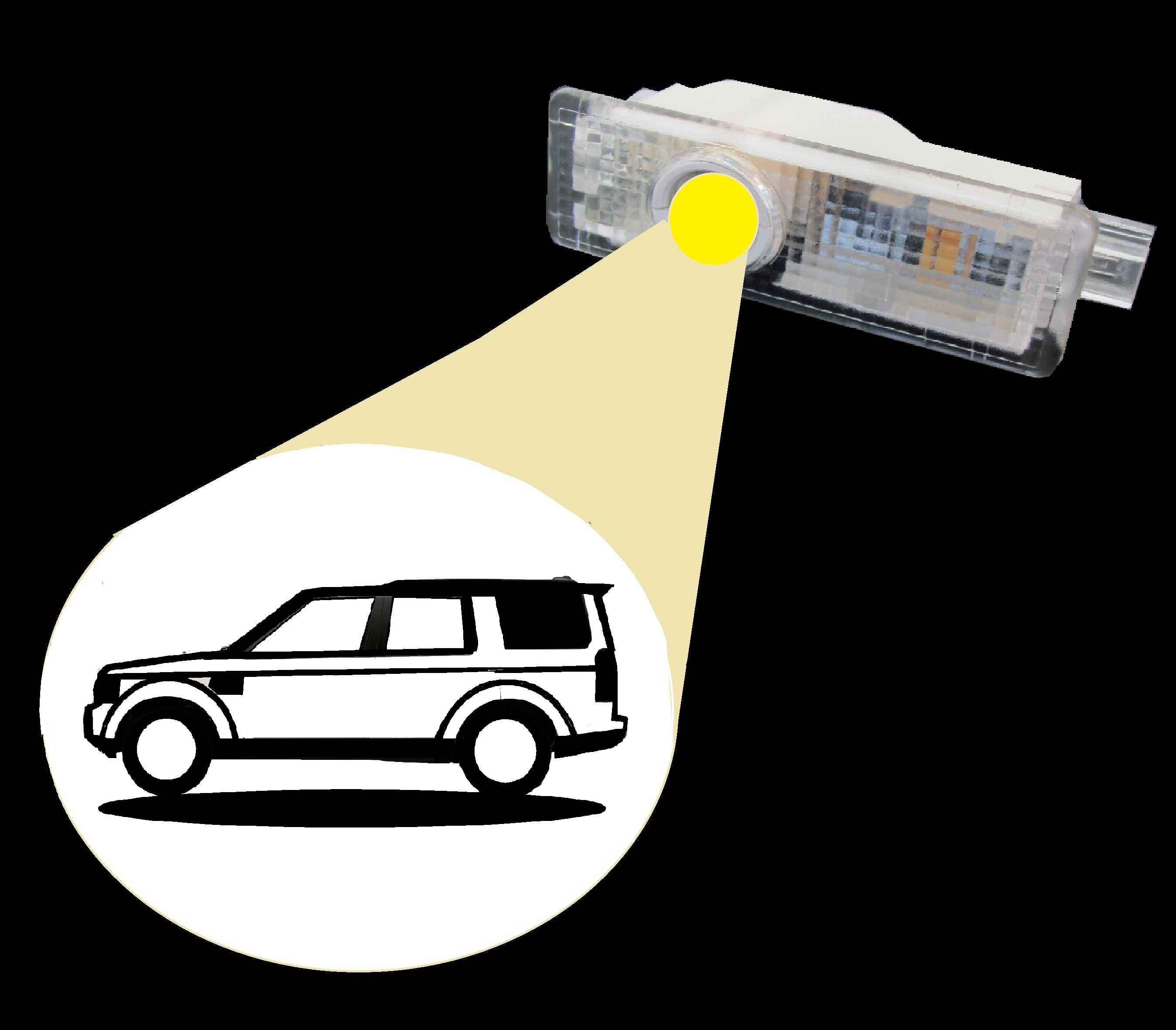 Land Rover Discovery 3 4 Led Door Puddle Logo Courtesy