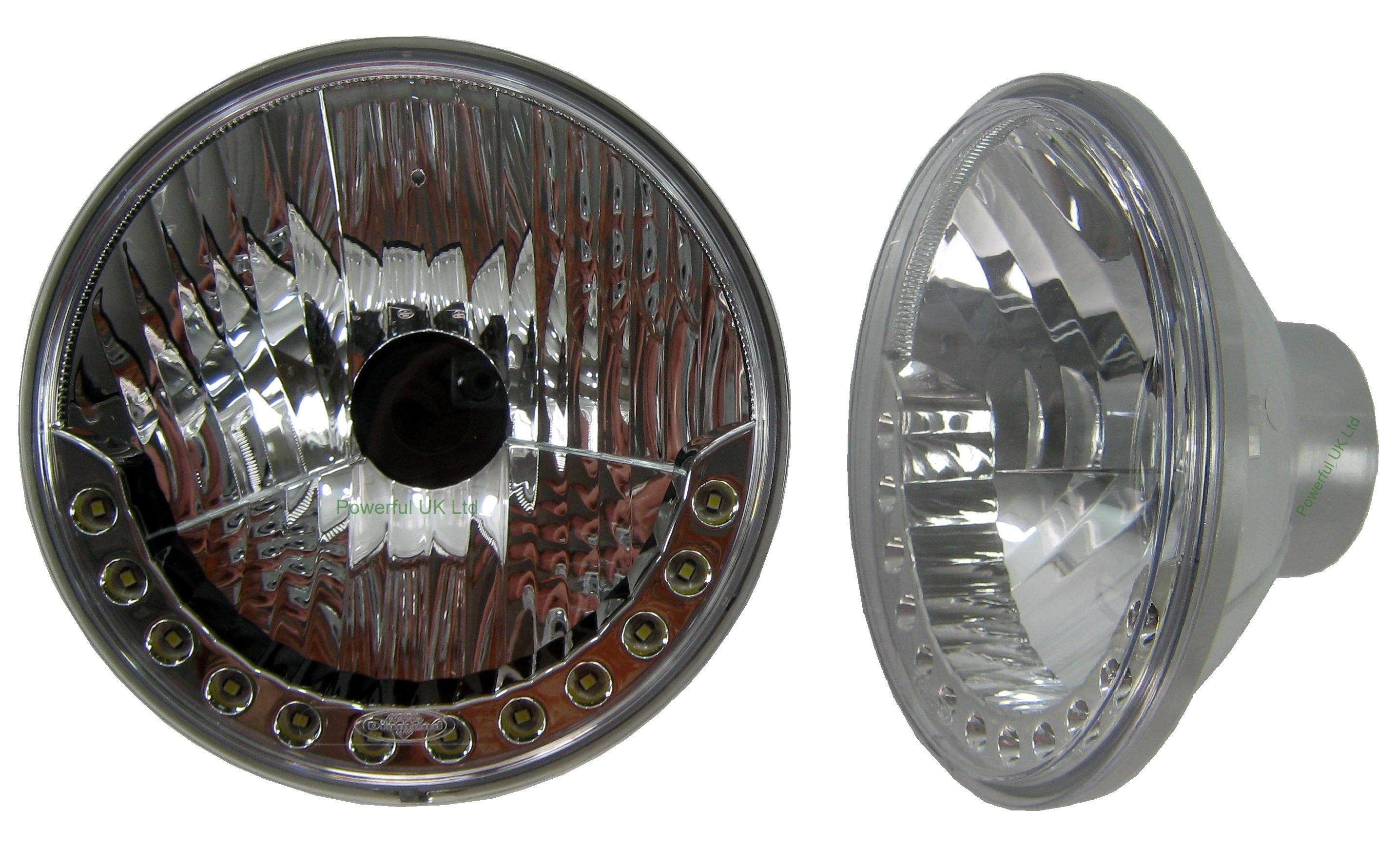 Halogen H4 Led Drl Style Head Lights For Morris Minor Van