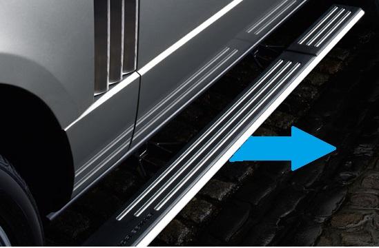 Deployed Side Steps For Range Rover Genuine Accessory: Range Rover L322 Deployanle Side Steps
