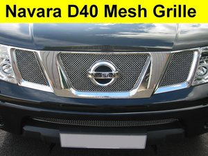 Nissan Navara D40 / Pathfinder Chrome Mesh Grille Kit to'09 Preview