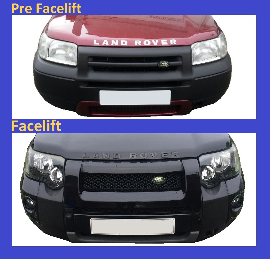 Front Light Guards Black Land Rover Freelander 1 2005-07