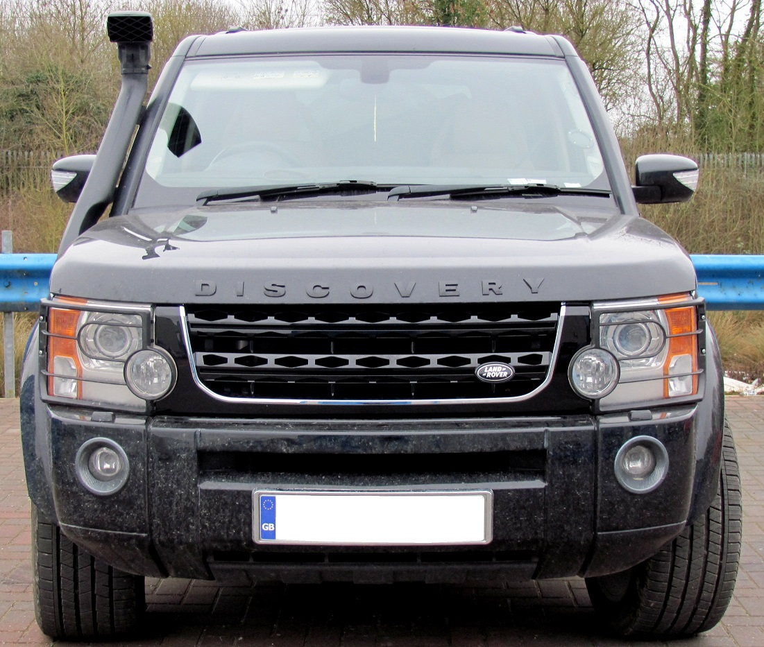 Sold Land Rover Discovery 3 Discov: Black+Chrome Disco 4 2014 Facelift Style Front Grille For