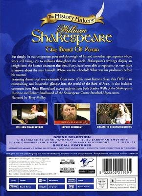 WILLIAM SHAKESPEARE - THE BARD OF AVON NEW & SEALED DVD