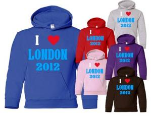 I Love London/2012 ~ Adult/Mens/Ladies Hoodie ~ 6 Colours~ Size S-XXL