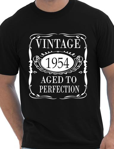 Mens-60th-Birthday-Present-Vintage-1954-Mens-Birthday-Gift-T-Shirt-Size-S-XXL