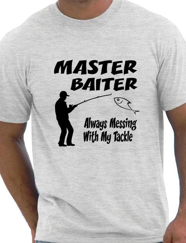 Master baiter funny fishing t shirt rude mens t shirt size for Funny fishing shirts