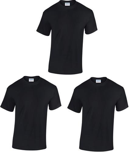 Pack of 3 gildan cotton plain blank cheap work short for Cheap workout shirts mens