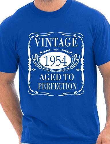 Mens-60th-Birthday-Present-Vintage-1954-Mens-Birthday-Gift-T-Shirt-Size-S-XXL