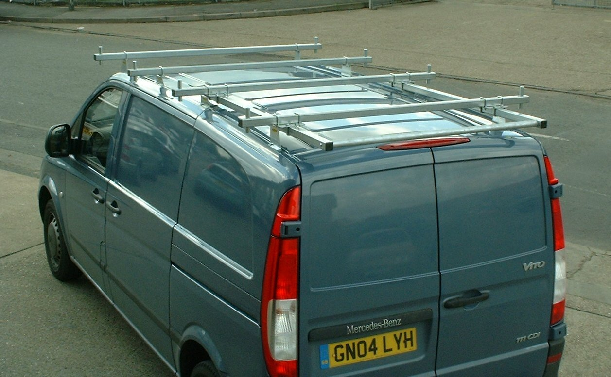 4 Roof Bars Rack Rail With Roller Fits Mercedes Vito 04 On