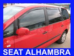 SEAT ALHAMBRA 5 DOOR 1995 - 2006 HEKO WIND DEFLECTORS TINTED 4pcs set