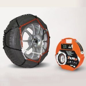 9mm Pair SnowChains Snow Chains + Free Ice Scraper For 165/60-12 (165 60 x 12)