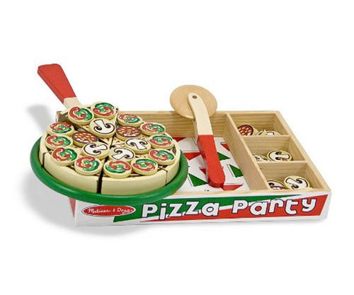 Melissa-Doug-WOODEN-PIZZA-SET-PLAY-FOOD-Role-Play-Toy-Gift-Toddler-Child-BN