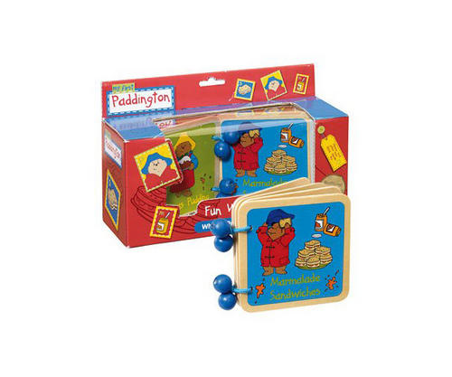 Rainbow-Designs-PADDINGTON-WOODEN-WORD-ACTIVITY-BOOK-Baby-Toddler-Nursery-BN