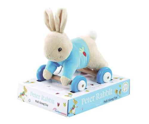 Rainbow-Designs-PETER-RABBIT-PLUSH-WOOD-PULL-ALONG-TOY-Baby-Toddler-Gift-BN