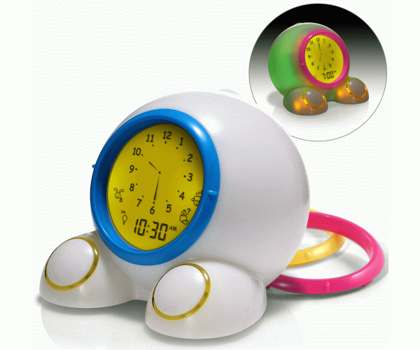 Onaroo Teach Me Time Toddler Child Kid Timekeeping Alarm Clock Night Light Bn Ebay