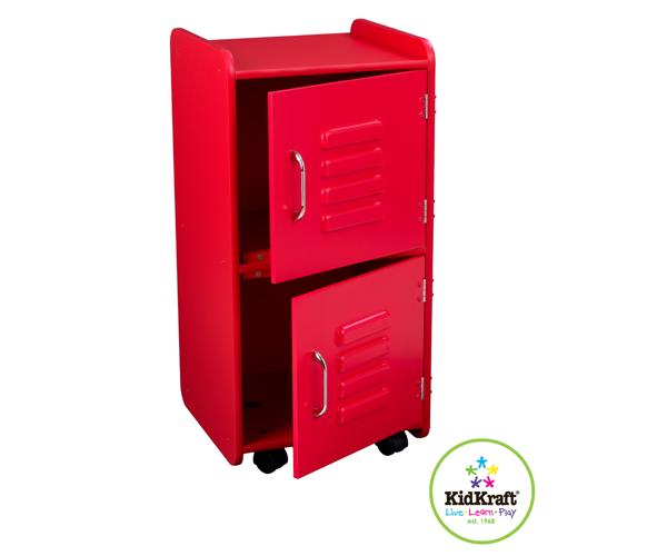 kidkraft medium locker red bedroom child kids storage tidy