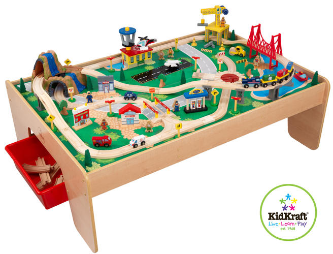 Kidkraft Train Table With Storage Details about KidKraft WATERFALL MOUNTAIN TRAIN TABLE SET Childrens ...