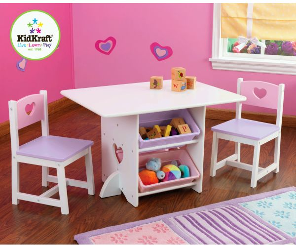 KidKraft Heart Table and Chair Set - Nursery Furniture Preview