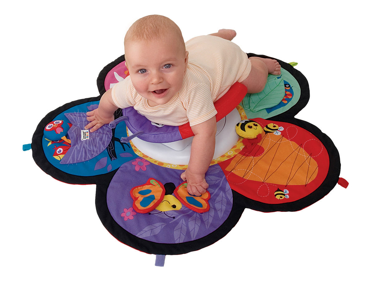 Lamaze SPIN & EXPLORE GARDEN GYM Baby/Child Tummy Time Play Mat Baby Toys