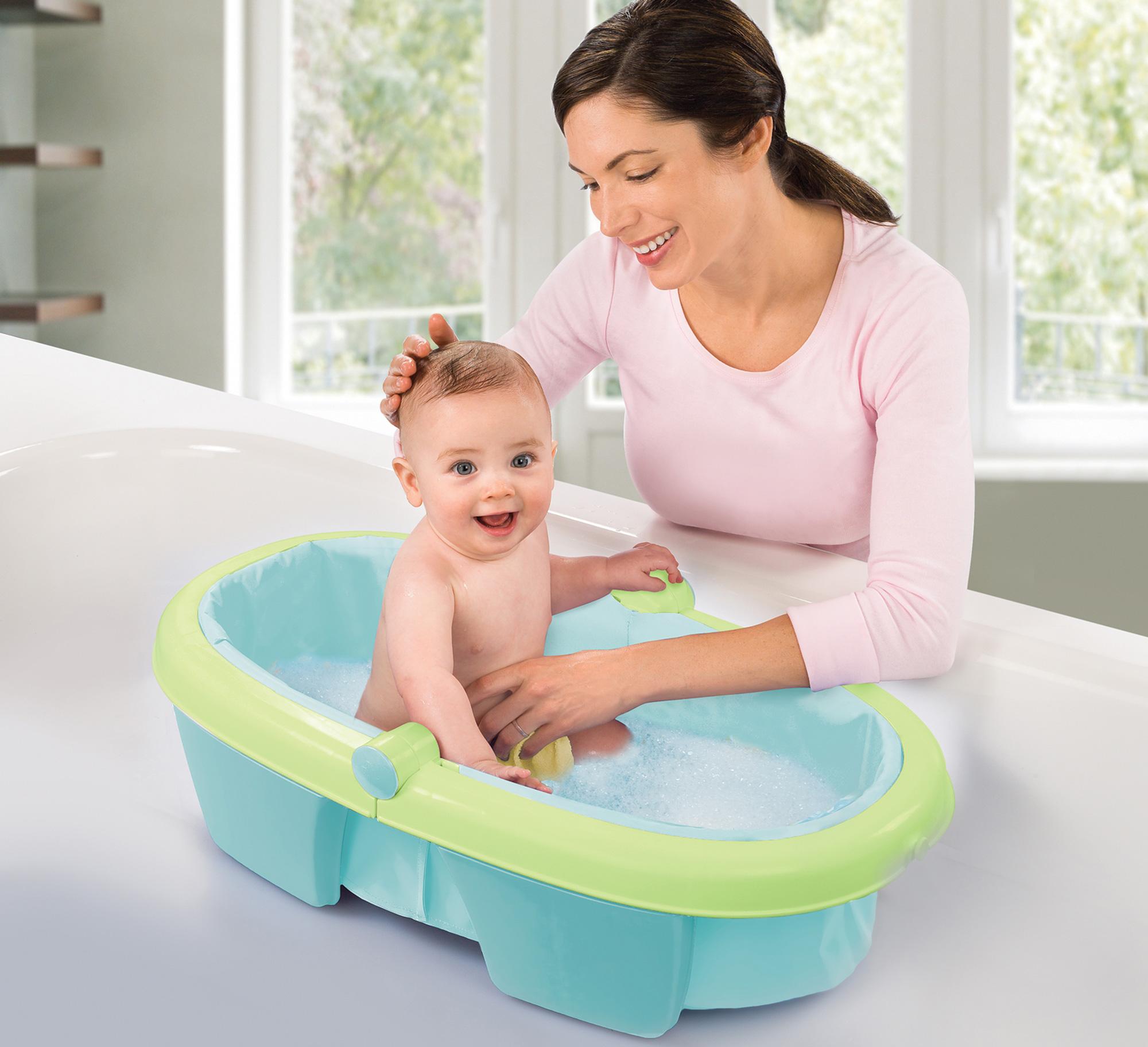 summer infant newborn to toddler fold away baby bath child travel tub bn ebay. Black Bedroom Furniture Sets. Home Design Ideas