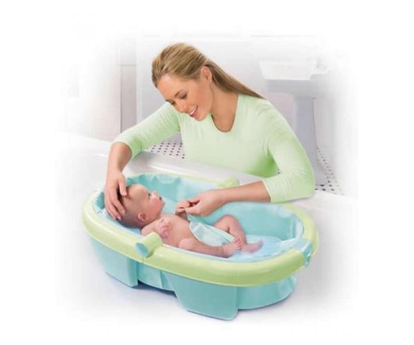 summer infant newborn to toddler fold away baby bath child travel tub bn ebay. Black Bedroom Furniture Sets. Home Design Ideas