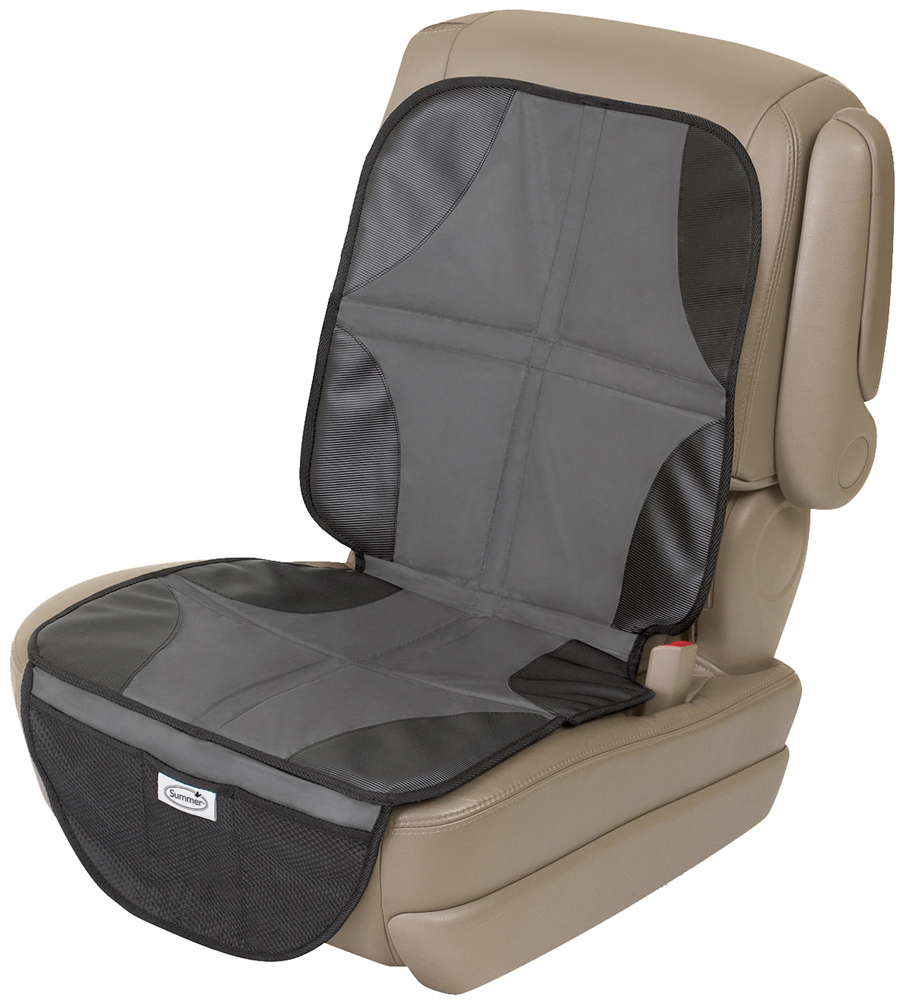 summer infant duo mat car seat protector liner black grey travel safety bn. Black Bedroom Furniture Sets. Home Design Ideas