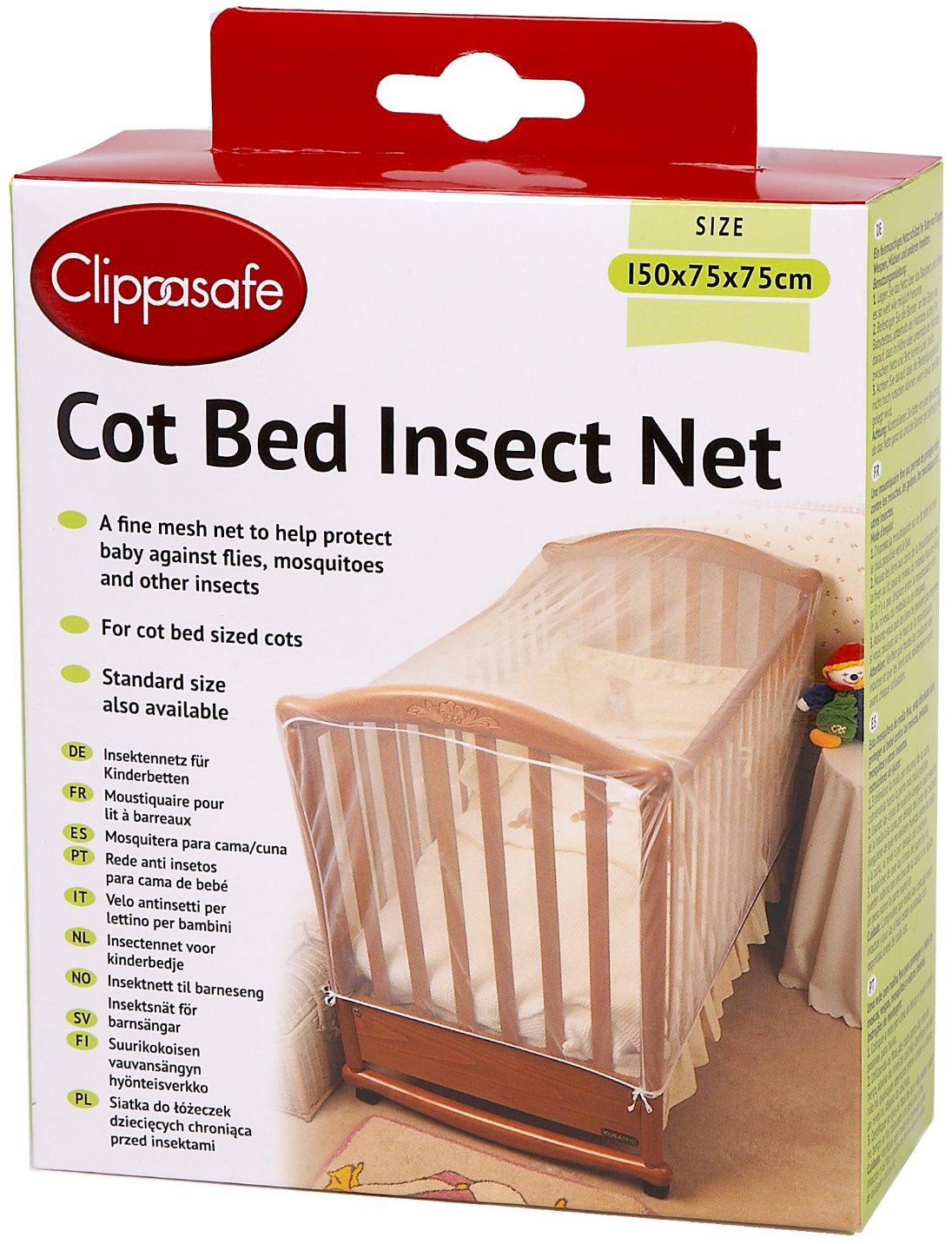 clippasafe kinderbett moskitonetz baby schutz sicherheit schlafzubeh r neu ebay. Black Bedroom Furniture Sets. Home Design Ideas