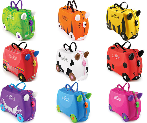 Trunki Kids/Children's Ride On/Pull Along Suitcase/Luggage Travel ...