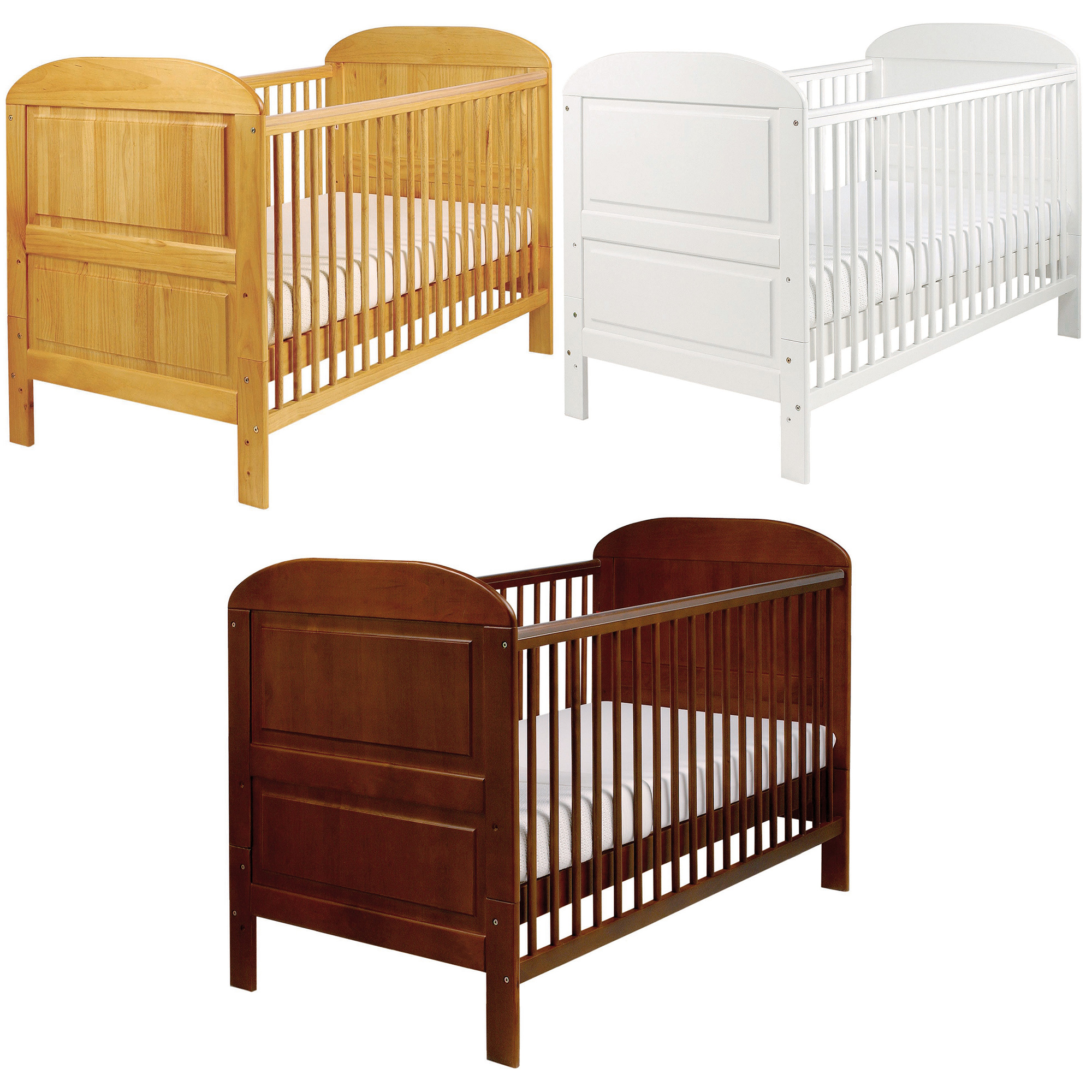 East Coast ANGELINA SOLID PINE COT BED Baby Child Toddler