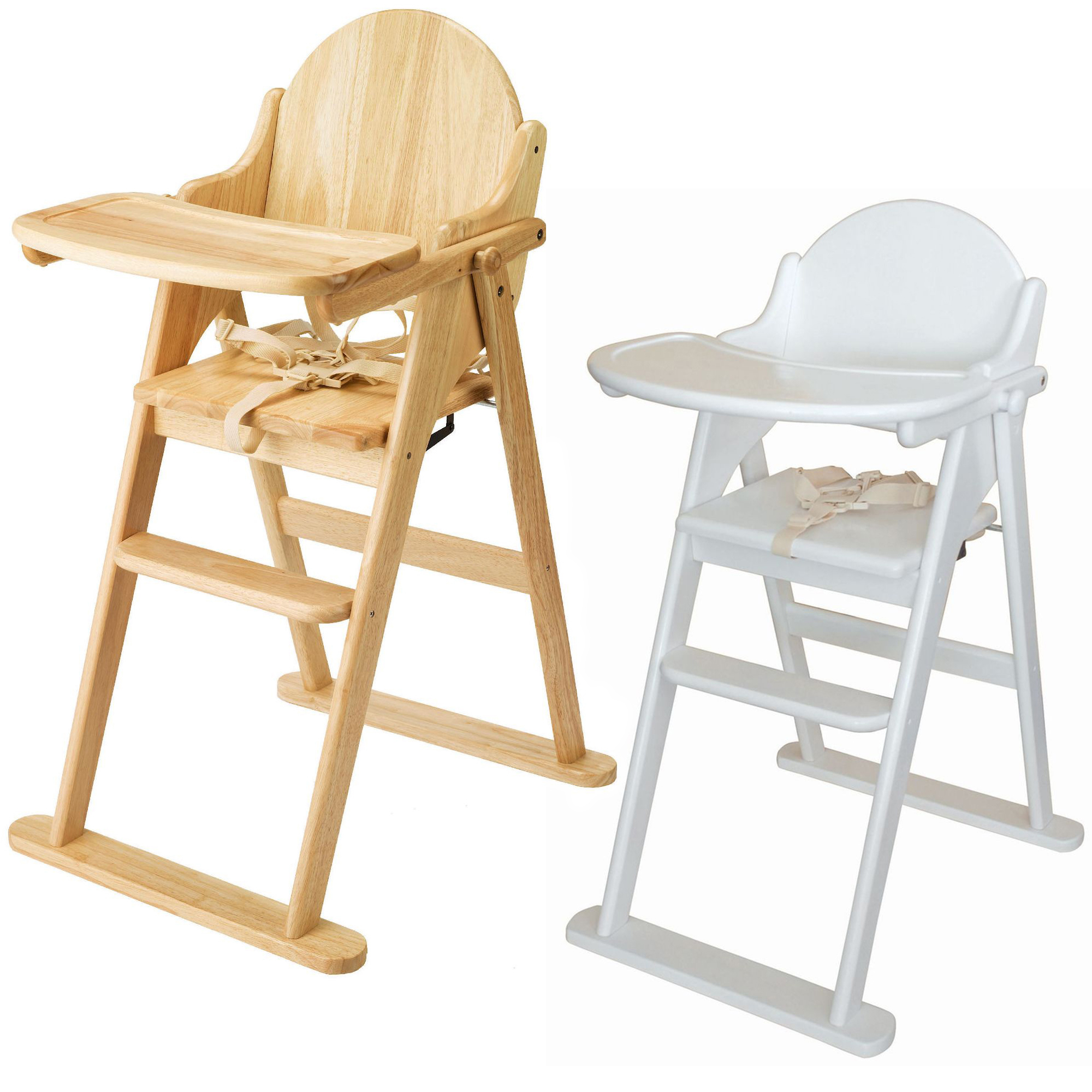 East coast folding highchair solid wood baby child toddler