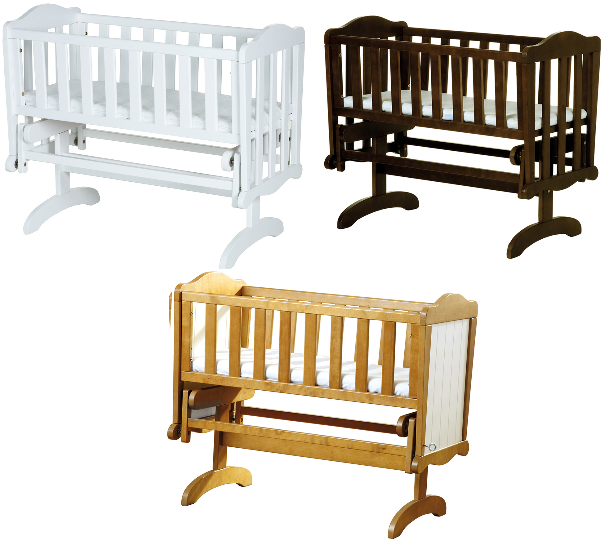 Baby cribs rocking - Saplings Glider Lockable Rocking Crib Cradle Baby Child Nursery Furniture Bn