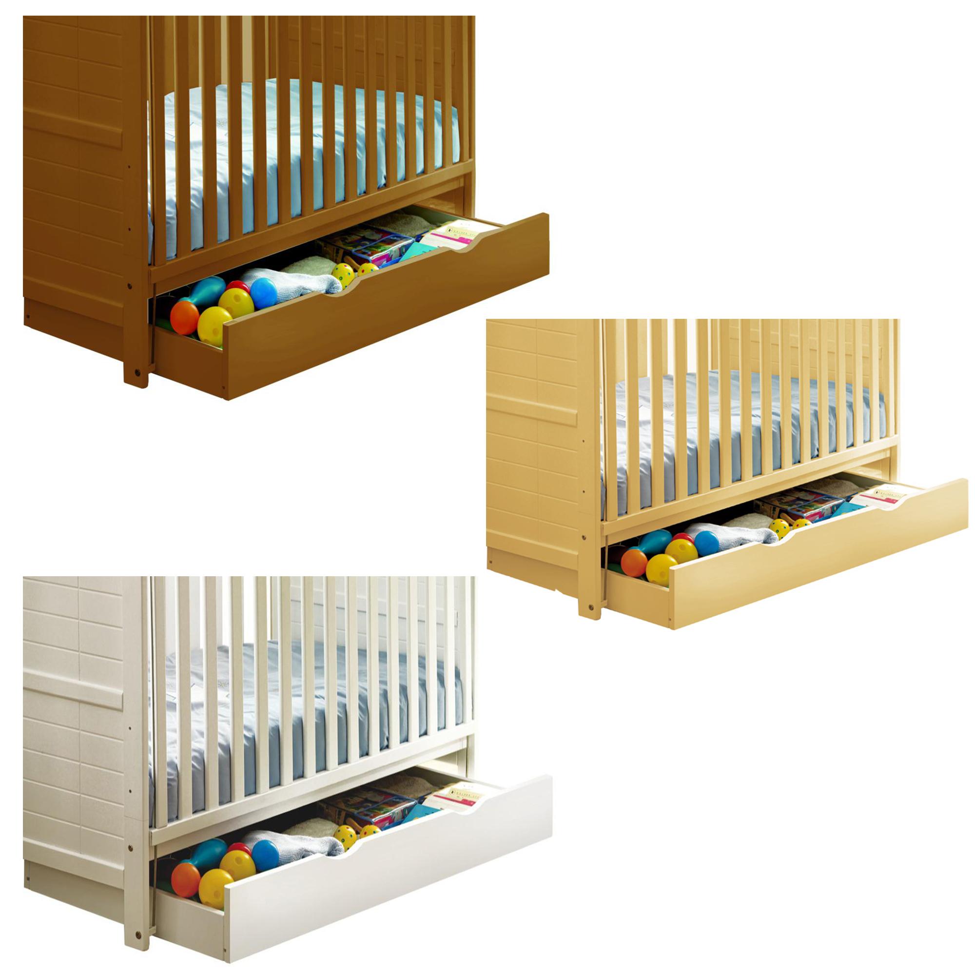 saplings cajn con ruedas para debajo de la camacuna mueble infantil almacenaje