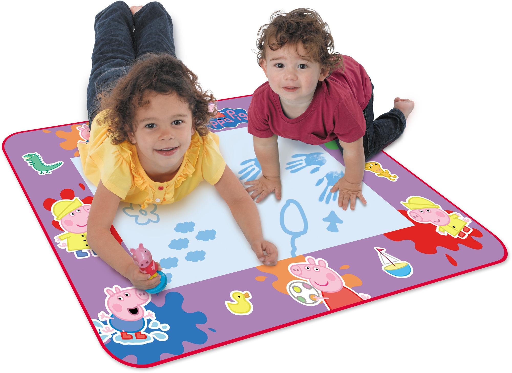 itm Tomy AQUADOODLE PEPPA PIG SET No Mess Drawing Art Craft Mat Toddler Child Toy