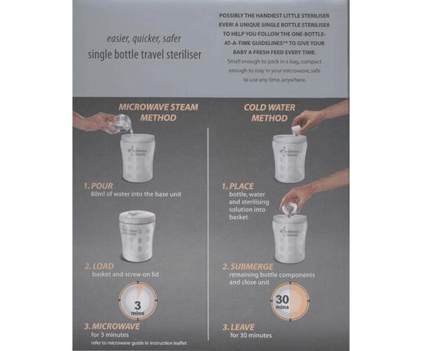 Tommee Tippee Single Bottle Steriliser Instructions Pdf Download