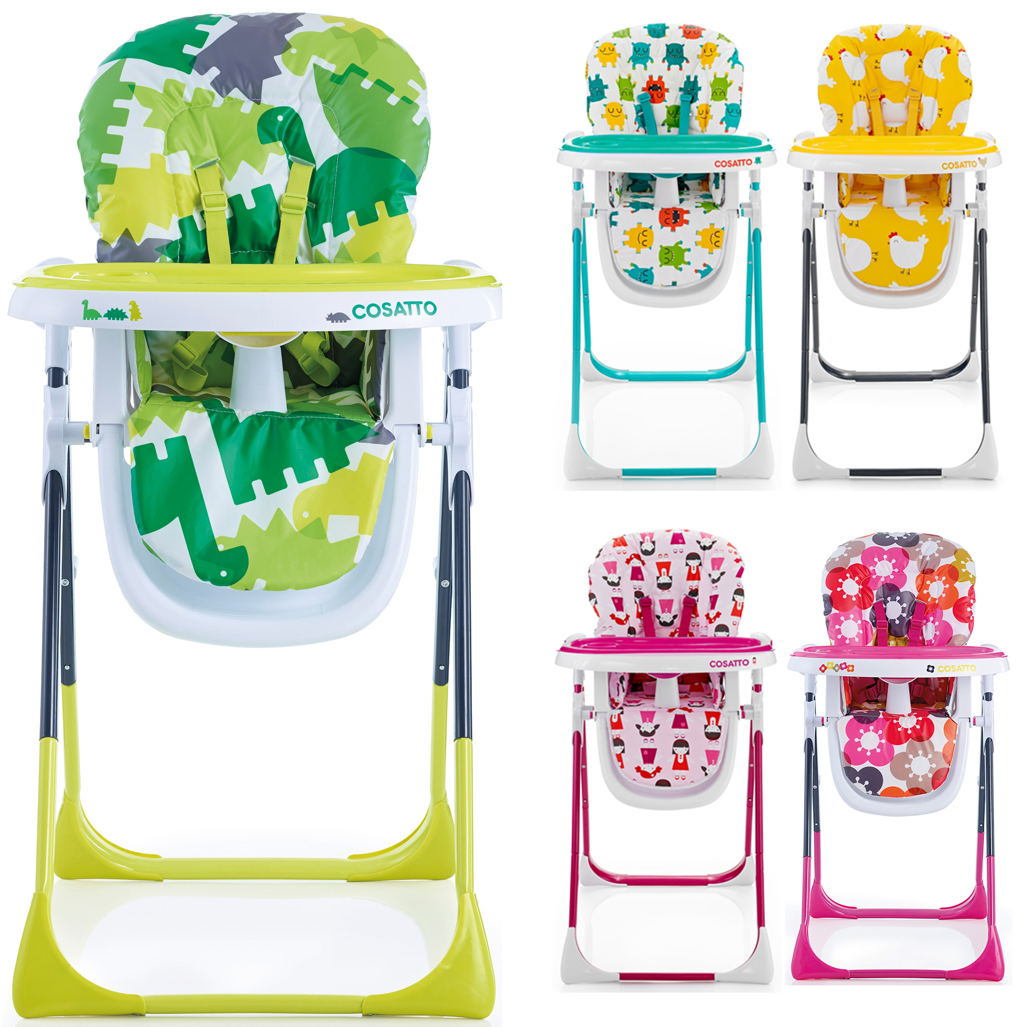 Cosatto NOODLE SUPA MULTI POSITION HIGH CHAIR Feeding Dinner Baby
