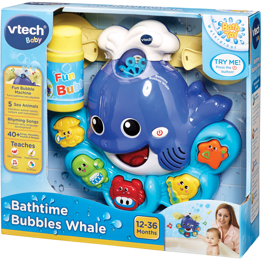 Vtech BATH TIME BUBBLES WHALE Baby/Child Bathtime Bubbles ...