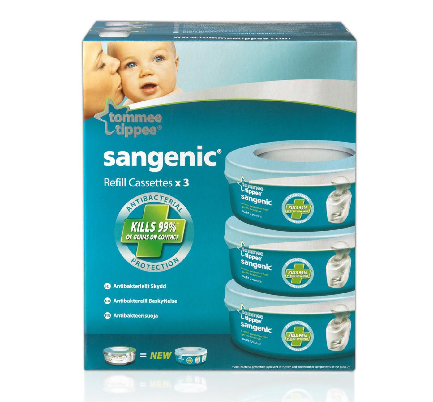 Tommee Tippee Sangenic Nursery Essentials Nappy Wrapper 3x Refill Cassettes BNIB | eBay