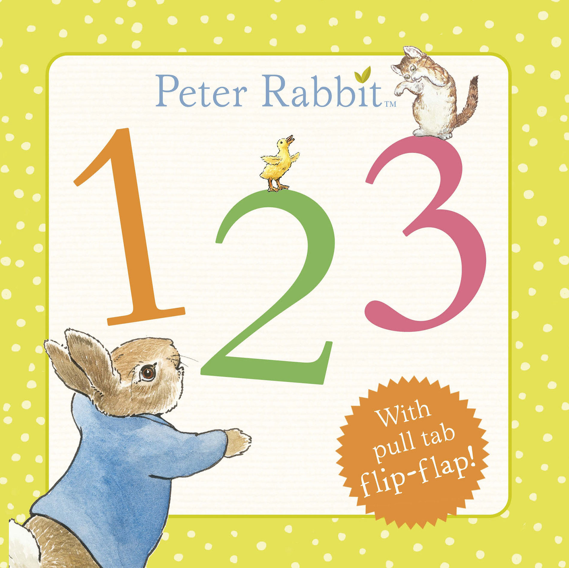 Rainbow Designs PETER RABBIT 123 BOOK Baby/Toddler Educational Toy/Gift - BN