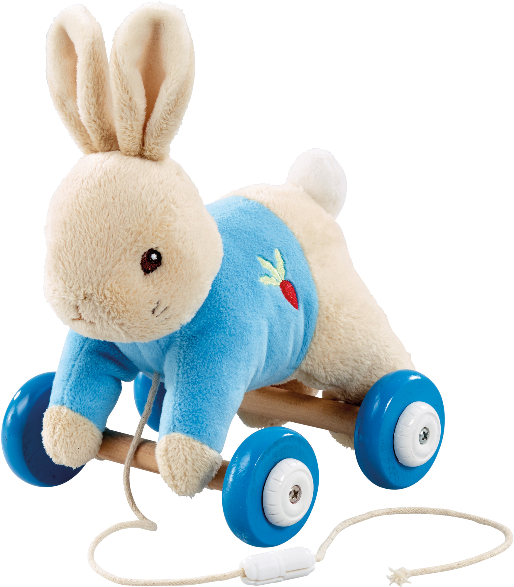 Rainbow Designs PETER RABBIT PLUSH/WOOD PULL ALONG TOY Baby/Toddler ...