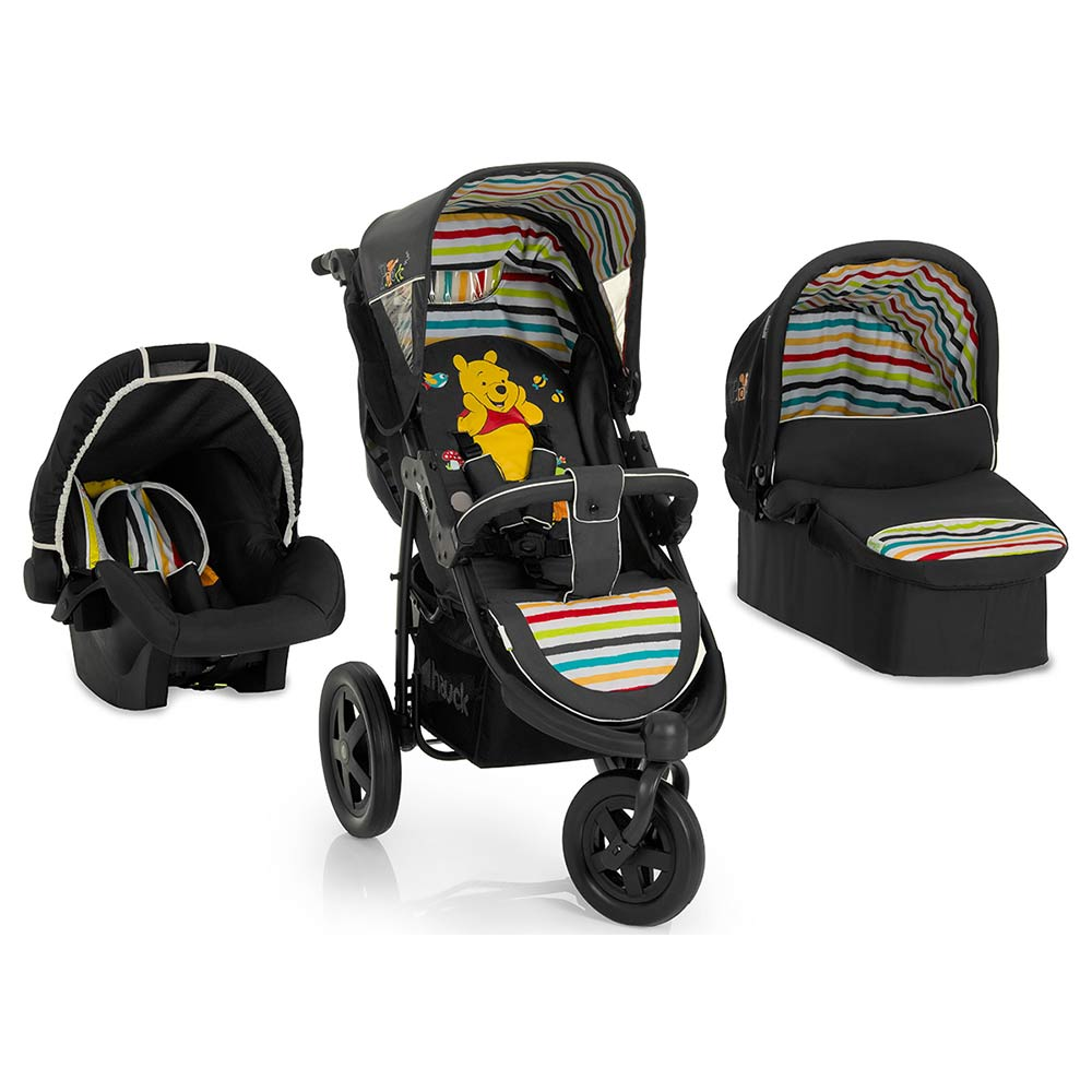 hauck winnie pooh viper trio set kinderwagen buggy reise transport system neu. Black Bedroom Furniture Sets. Home Design Ideas
