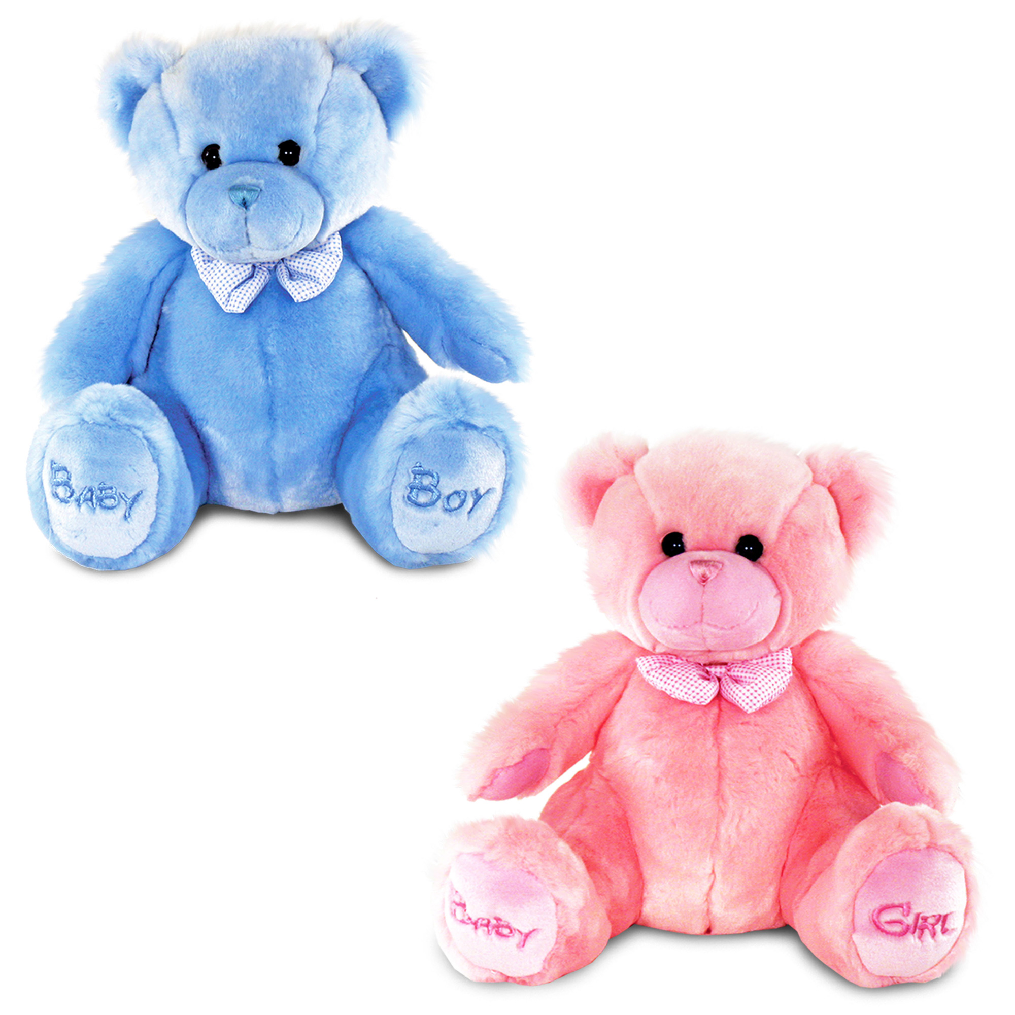 Keel Toys BABY BOY GIRL BEAR BLUE PINK SMALL LARGE Baby Toddler