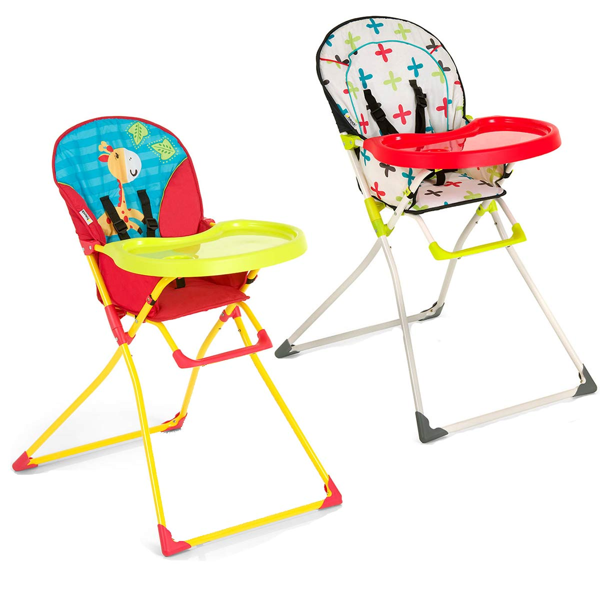Hauck MAC BABY FOLDING HIGHCHAIR Jungle Cross Baby Toddler Child Feeding