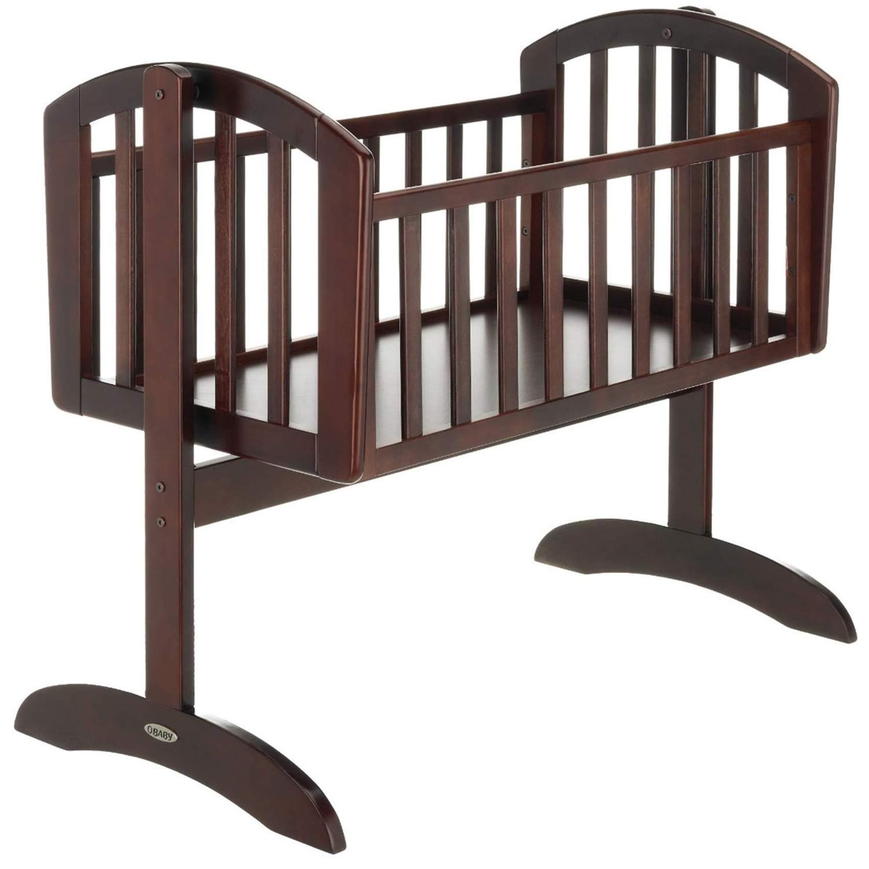 Obaby sophie swinging crib wooden nursery furniture baby Dark wood baby furniture