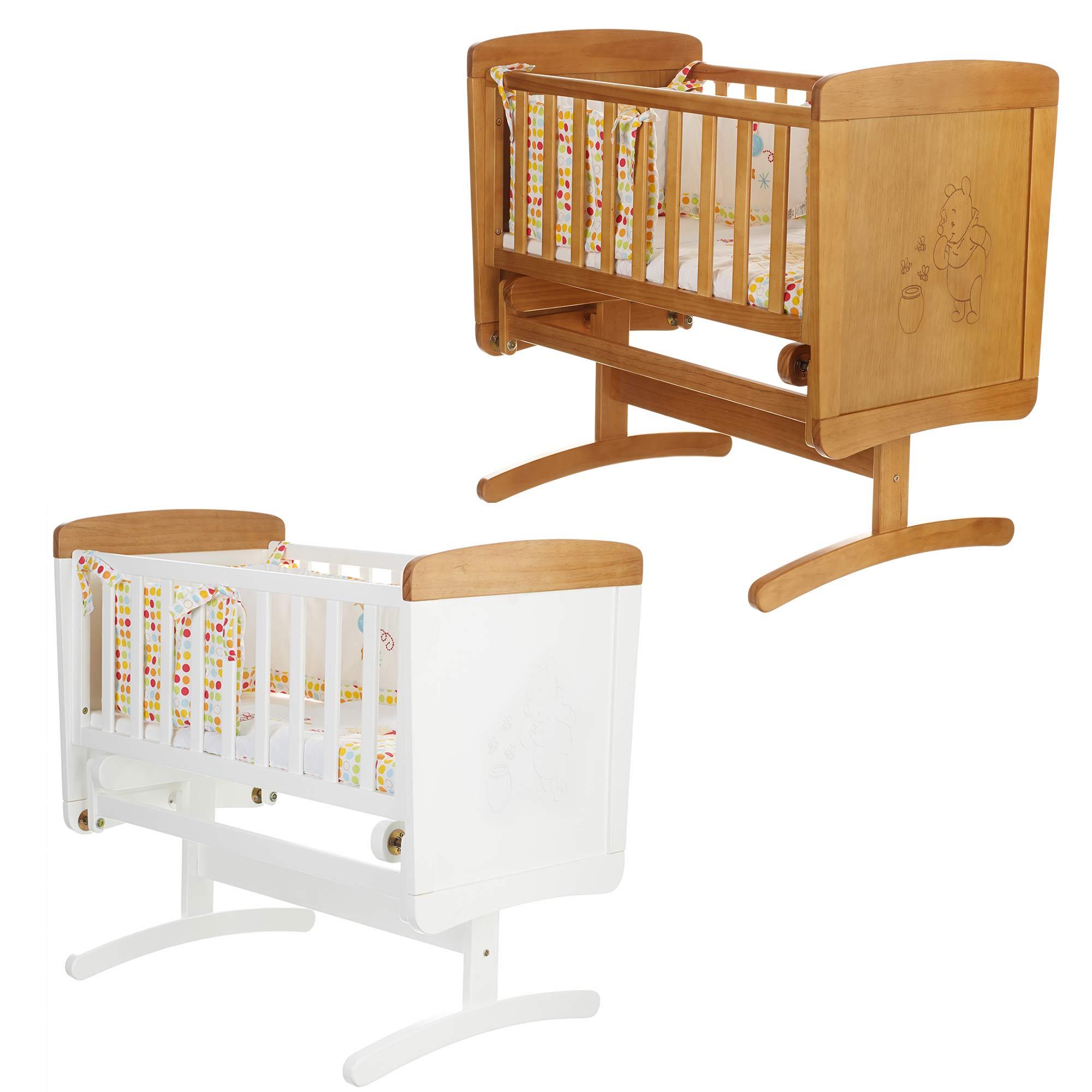 obaby disney winnie the pooh gliding crib wooden nursery. Black Bedroom Furniture Sets. Home Design Ideas