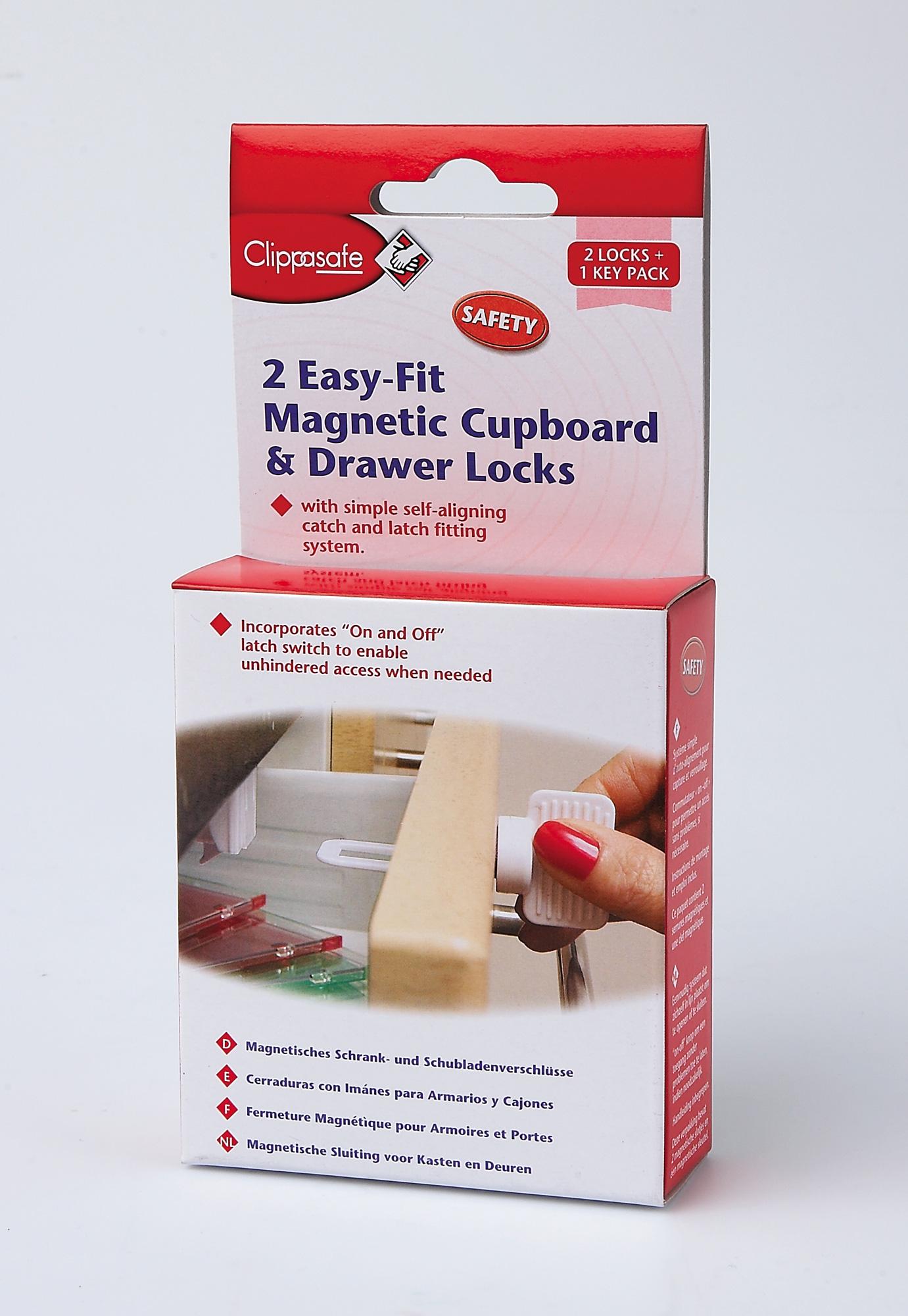 clippasafe serrure magnetique pour tiroir et armoire s curit de b b neuf ebay. Black Bedroom Furniture Sets. Home Design Ideas